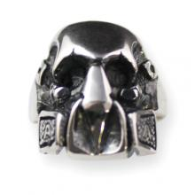 Anello In Argento - Graffiti Mask Skull