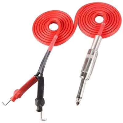 Springless Silicone Clip Cord - RED