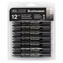 Neutral Tones Brumarker Winsor&Newton Set 12 Grey