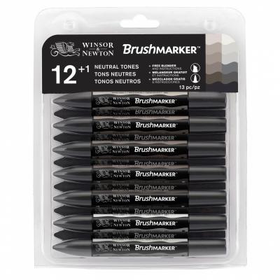 Neutral Tones Brumarker Winsor&Newton Set 12 Grey