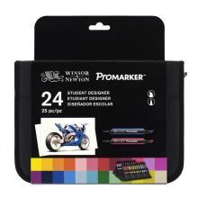 24 Student Designer Promarker Astuccio 24 pennarelli