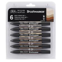 Skin Tones Brush Marker Winsor&Newton Set of 6 colors