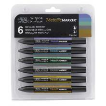 Metallic Marker Winsor&Newton Kit di 6 pennarelli
