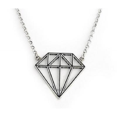 Collana in Argento El Rana ciondolo Diamante