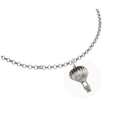 El Rana Silver Big Pendant Hot Air Balloon