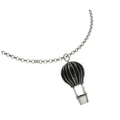 El Rana Silver Big Pendant Hot Air Balloon BK