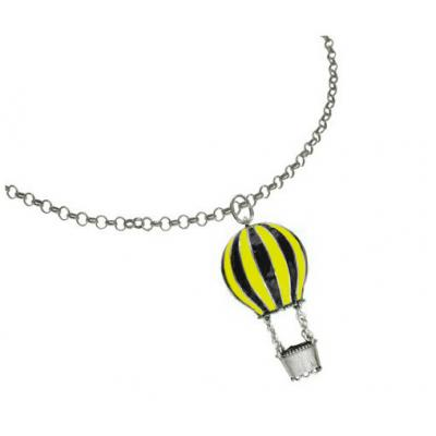 El Rana Silver Big Pendant Hot Air Balloon YB