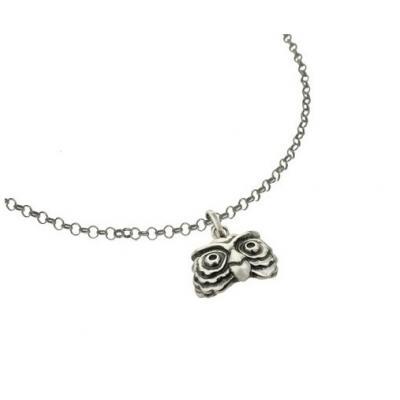 El Rana Silver Small Pendant Owl