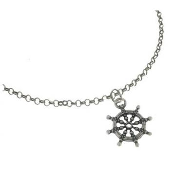 El Rana Silver Big Pendant Wheel