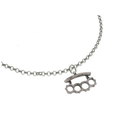 El Rana Silver Big Pendant Brass Knuckles