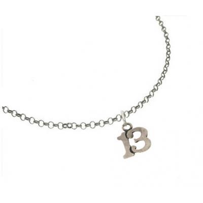 El Rana Silver Small Pendant Lucky 13
