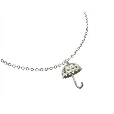 El Rana Silver Small Pendant Umbrella Heart