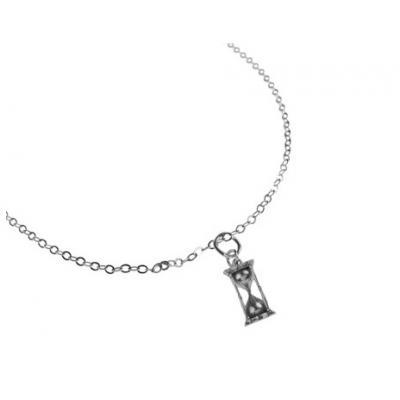 El Rana Silver Small Pendant Clepsydra Skull