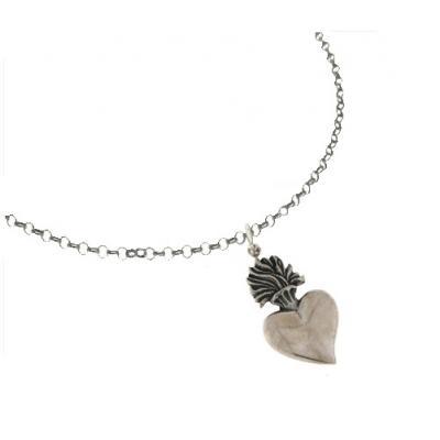 El Rana Silver Small Pendant Sacred Heart 2