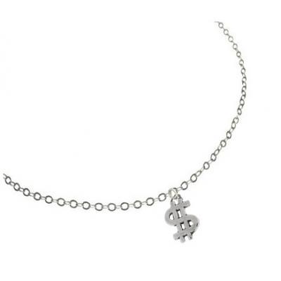 El Rana Silver Small Pendant Lucky Dollar