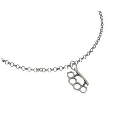 El Rana Silver Small Pendant Brass Knuckles