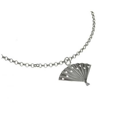 El Rana Silver Small Fan Heart