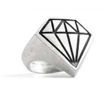Anello in Argento con Diamante Puro El Rana