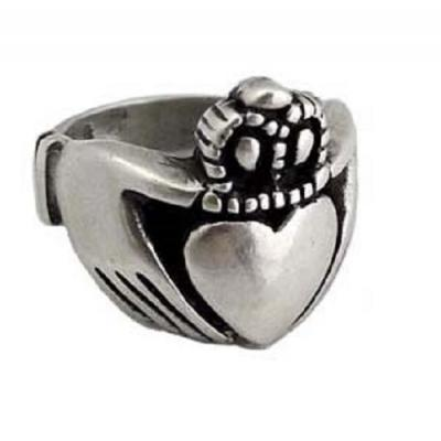 Anello in Argento con Claddagh Old School El Rana