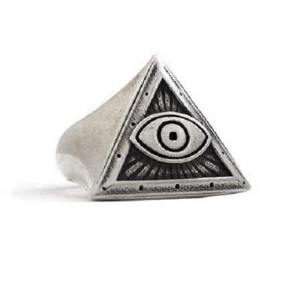Anello in Argento con Occhio Onniveggente, Occhio di Dio  El Rana