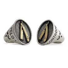 El Rana Collection Silver Ring whit golden shaver