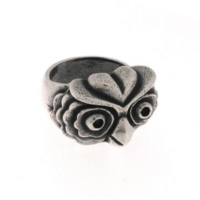 Anello in Argento con Civetta Old School El Rana