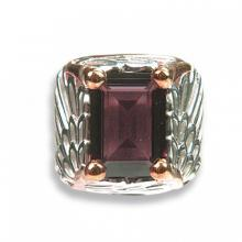 Silver gilt ring Wing with red Swarovski Crystal Evolution