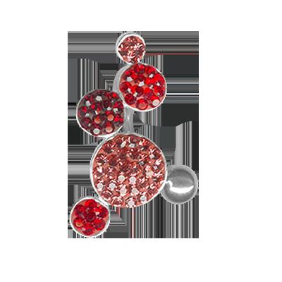 Gioiello Bolle di Cristallo 01 - Rosso