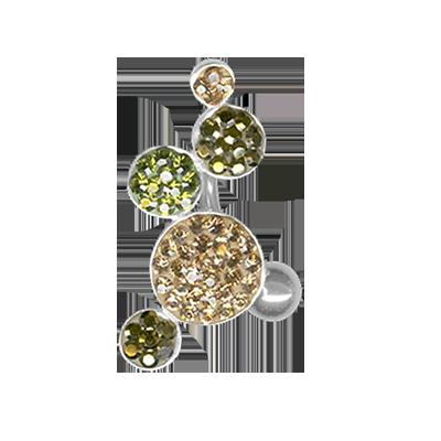 Gioiello Bolle di Cristallo 02 - Verde