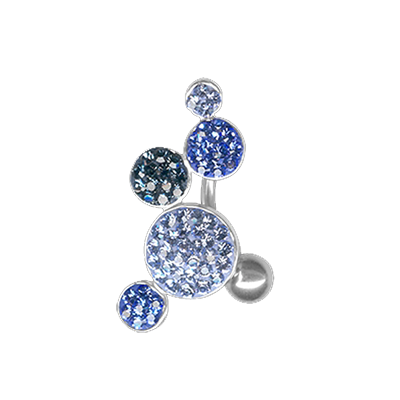 Gioiello Bolle di Cristallo 05 - Blue