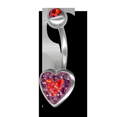 Crystal Heart Titanium 06