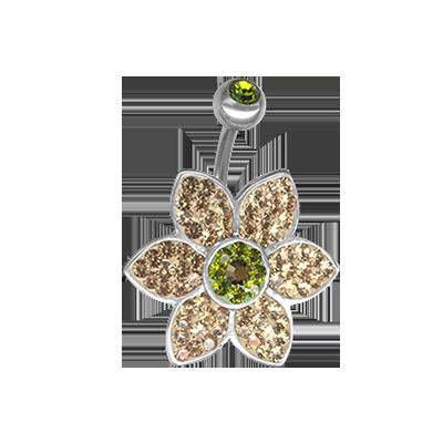 Crystal Jasmine Flower Titanium  03