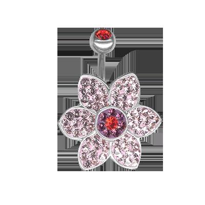 Crystal Jasmine Flower Titanium  04