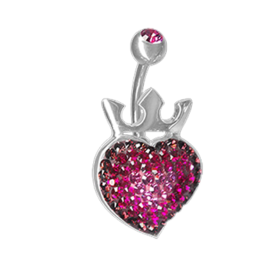Crystal Royal Heart Titanium  01