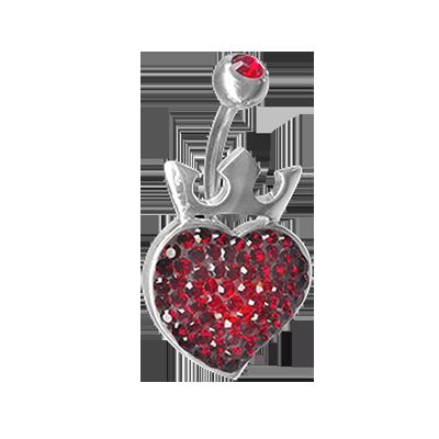 Crystal Royal Heart Titanium Bananabell 02