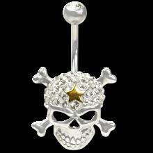 Crystal Skull and Crossbone Titanium  01