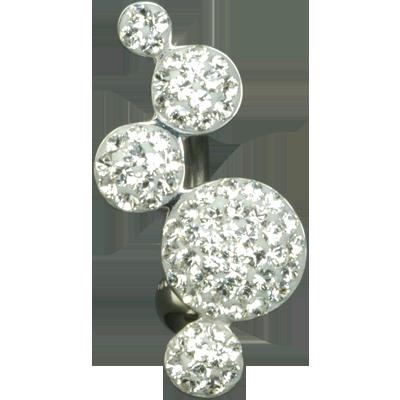 Crystal Boules Titanium 03-bianco