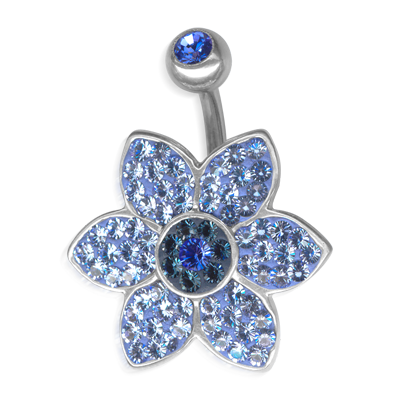 Crystal Jasmine Flower Titanium  01