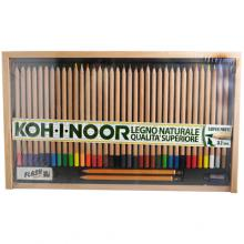 Koh-I-Noor Set Colored pencils in natural wood of superior quality