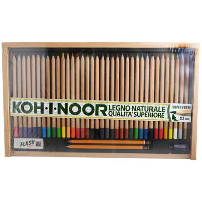 Koh-I-Noor Set Matite Colorate Legno Naturale Qualità Superiore