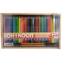 Koh-I-Noor Set Colored Pencils Triangular Customizable