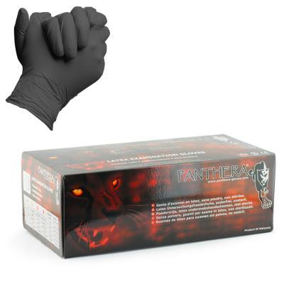 Panthera Black Latex Examination Glove