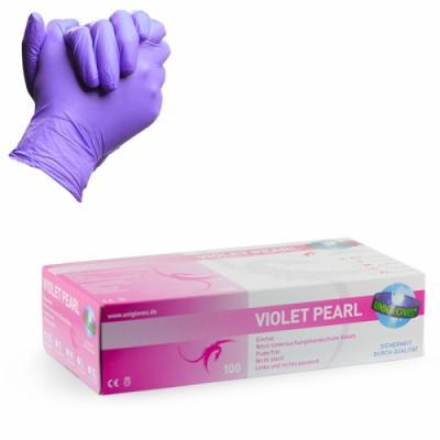 Guanti Violet Pearl in Nitrile 100pz