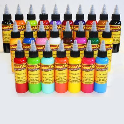Eternal Top 25 Colors Tattoo Ink Set 1oz/30ml