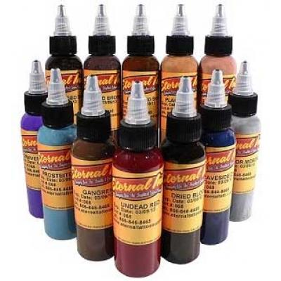 Eternal Zombie 12 Colors Tattoo Ink Set