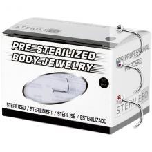 Pre-Sterilized Titanium Nose Stud with Swarovski