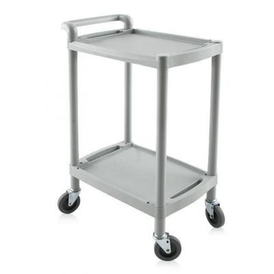 Cart with wheels and shelves