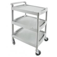 Cart with wheels and three shelves