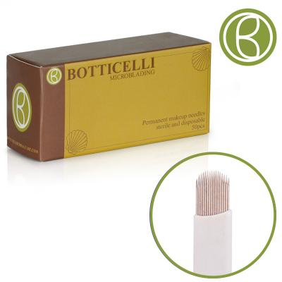 Botticelli Microblading Needles U- Blade -14 Needles 0.20*25