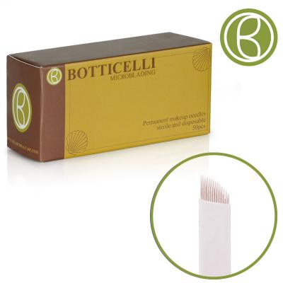 Botticelli Microblading Needles Blade Curved -14 Needles 0.30*25